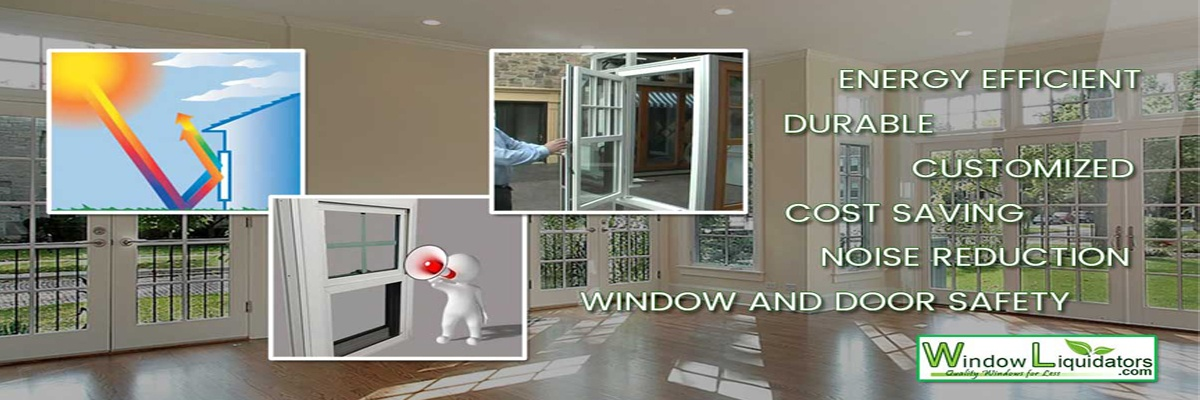 Energy Efficient Durable Customized cost saving noise reduction window and door safety