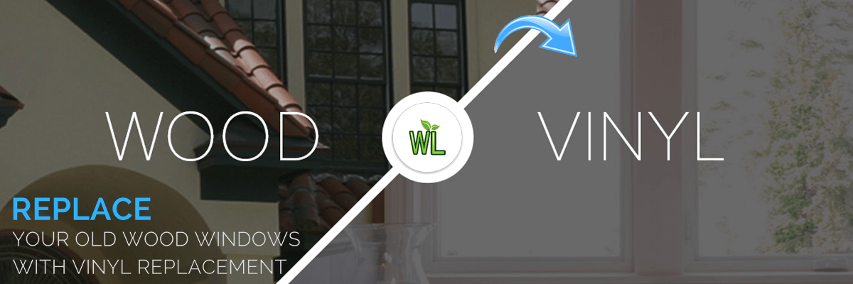 Replace your old wood windows with vinyl window